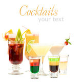 Alcohol Shot Drink on fancy blurred Cocktails Royalty Free Stock Photography