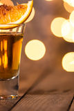 Alcohol in shot glass Royalty Free Stock Images