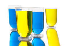 Alcohol shots with reflection Royalty Free Stock Image