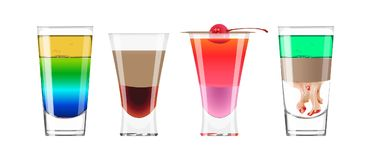 Alcohol shots set. Royalty Free Stock Photography