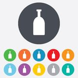 Alcohol sign icon. Drink symbol. Bottle. Stock Photography