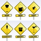 Alcohol Signs Royalty Free Stock Photo