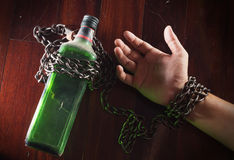 Alcohol slave,Alcoholism. Social issue or addiction concept Stock Photography