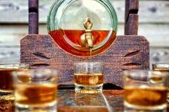 Alcohol, smaak en drankconcept stock foto's