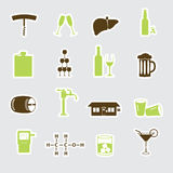 Alcohol stickers set eps10 Royalty Free Stock Photography