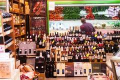 Alcohol store in Logrono, La Rioja Stock Photo