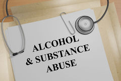 Alcohol & Substance Abuse - medical concept Stock Images