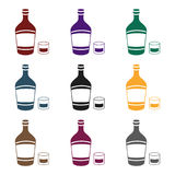 Alcohol symbol stock vector illustration. Liqueur icon in black style isolated on white background. Alcohol symbol vector illustration Royalty Free Stock Image
