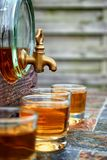 Alcohol,taste and drink concept. Royalty Free Stock Images