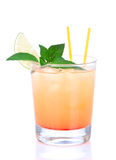 Alcohol tequila sunrise cocktail Stock Images