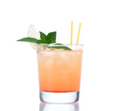 Alcohol tequila sunrise or margarita cocktail Stock Photography