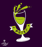 Alcohol theme vector art illustration. Festive goblet with class Royalty Free Stock Photography