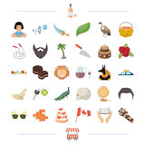 Alcohol, travel, sports and other web icon in cartoon style.building, history, pizzeria icons in set collection. Stock Photos