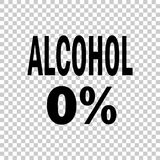 0% alcohol. Vector icon. Illustration Stock Photo
