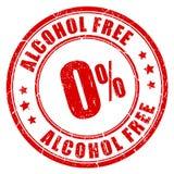 Alcohol vrije rubberzegel royalty-vrije illustratie