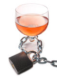 Alcohol whit lock Stock Images