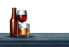 Alcohol On White Background Royalty Free Stock Photo