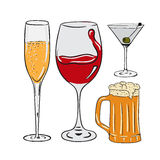 Alcohol stock illustration