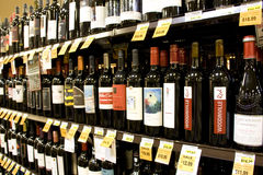 Alcohol wines for sale Stock Photos