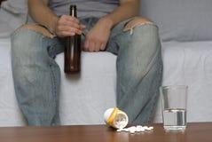 Alcohol y drogas Fotos de archivo libres de regalías