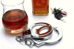Alcohol y la ley imagenes de archivo