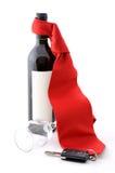 Alcohol y riesgo imagen de archivo libre de regalías