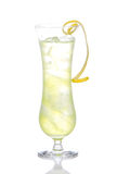 Alcohol yellow margarita cocktail with crushed ice Royalty Free Stock Images