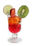 Alcoholcocktail in glas op wit royalty-vrije stock fotografie
