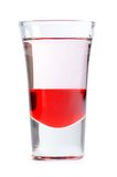 Alcoholcocktail op wit wordt geïsoleerd dat Stock Afbeeldingen