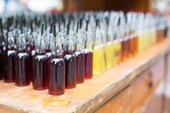 Alcoholcocktails, schoten in het drinken van flessen royalty-vrije stock foto
