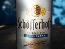 Alcoholfree Schoefferhofer beer royalty free stock images