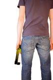 Alcoholic. Isolated on white background Stock Images