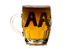Alcoholic anonymous pint of beer Royalty Free Stock Image