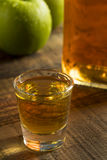 Alcoholic Apple Flavored Bourbon Whiskey Royalty Free Stock Photography