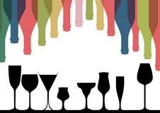 Alcoholic Bar Menu Stock Photo