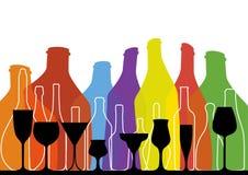 Alcoholic Bar Menu  Stock Photos