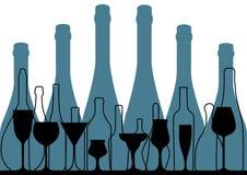 Alcoholic Bar Menu blue Royalty Free Stock Photos