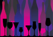 Alcoholic Bar Menu pink Royalty Free Stock Images