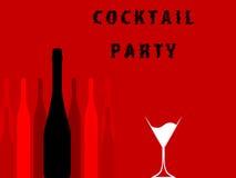 Alcoholic Bar Menu red Stock Photo