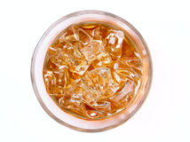 Alcoholic beverage. Isolated on a white background . Top view Royalty Free Stock Photography