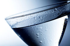 Alcoholic beverage. Closeup of a cocktail glass with an alcoholic beverage Royalty Free Stock Photo