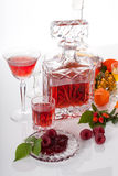Alcoholic beverage from fruits Royalty Free Stock Photography