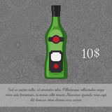 Alcoholic beverage Vermouth card template Stock Photography