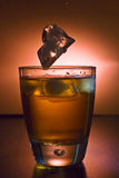Alcoholic beverage whith ice cubes Royalty Free Stock Image