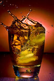 Alcoholic beverage whith ice cubes Royalty Free Stock Photo