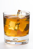Alcoholic beverage whith ice cubes Stock Images
