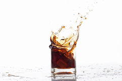 Alcoholic beverages. On a white background Stock Photos