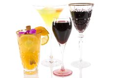 Alcoholic Beverages Royalty Free Stock Photography