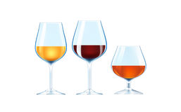 Alcoholic beverages Stock Image