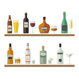 Alcoholic beverages and drinks. Royalty Free Stock Images